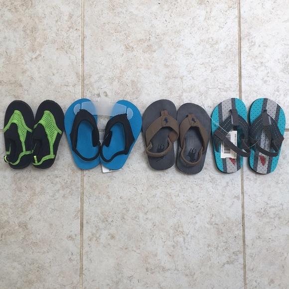fee9c3eef Bundle of 4 pairs infant toddler boy summer shoes